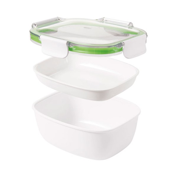 Lunch box 2 compartiments - blanc, vert - 11139800 - OXO