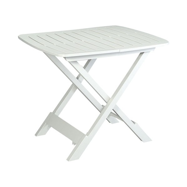 Table pliante tevere 79x72x70cm blanc 907409 for Meuble table pliante