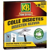 Recharge tapette colle insectes - lot de 10