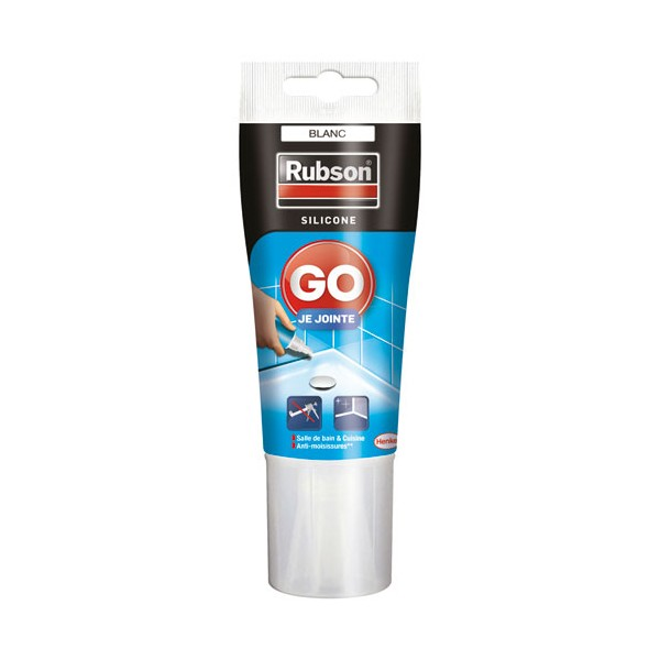 Mastic joint Go Je jointe tube 50mL - blanc - 1950041 - RUBSON
