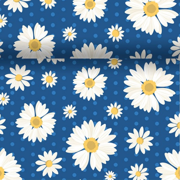 Chemin de table Daisy 0.4x4.8m - bleu - 173397 - DUNI