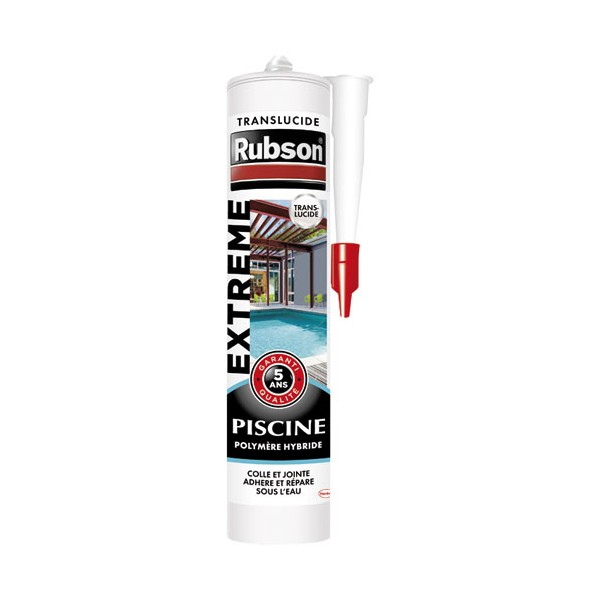 Mastic Extrême piscine 280mL - transparent - 1915872 - RUBSON