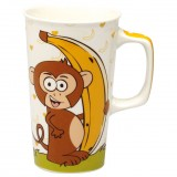 Mug Crazy monkey movie 55cL - porcelaine