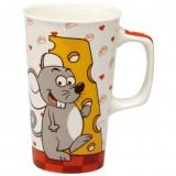 Mug Mouse cheese movie 55cL - porcelaine