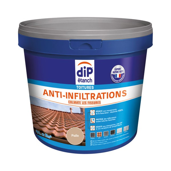 Anti-infiltration toiture 4L - paille - 342473 - DIP ETANCH