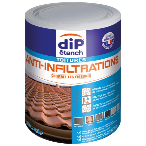 Anti-infiltration toiture 750mL - paille - 342466 - DIP ETANCH