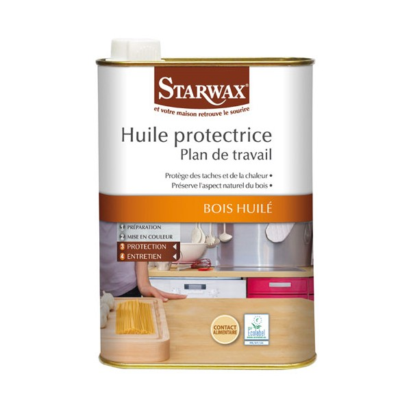 huile protectrice plan de travail bois huil 500ml incolore 987 starwax home boulevard. Black Bedroom Furniture Sets. Home Design Ideas