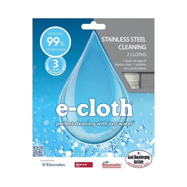 Microfibre spécial inox - lot de 2 - 8930109 - E-CLOTH
