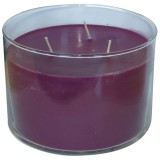 Bougie ronde verre 14.7 x 10cm - parfum blackberry wine