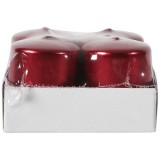 Bougie cylindrique H : 45mm rouge - lot de 4