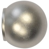 Embout de tringle boule D : 20mm nickel - lot de 2