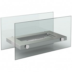 Chemin e de table inox et verre df 6508 firefriend for Cheminee exterieure inox prix