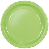 Assiette carton fresh green - D : 23 cm - lot de 10