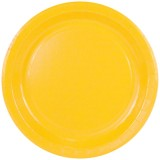 Assiette carton sun yellow - D : 23 cm - lot de 10