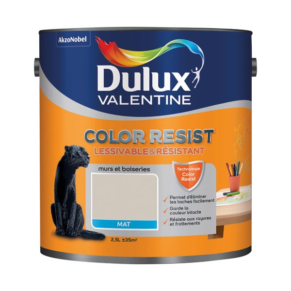 peinture mate color resist murs et boiseries sable de mer 5266015 dulux valentine. Black Bedroom Furniture Sets. Home Design Ideas