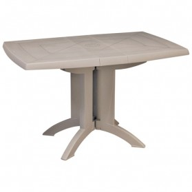 Table de balcon pliable - 118x77cm - lin