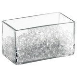 Pot de rangement Bella - rectangulaire - transparent
