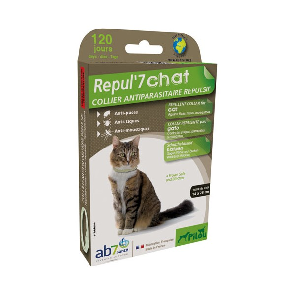 Collier chat - repul'7 - 35 cm - 173336 - PILOU