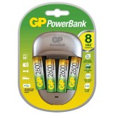 Chargeur accus Quick3 PowerBank - 4 piles - AA et AAA