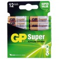 Pile alcaline Super - AAA - lot de 12