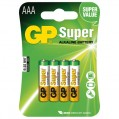 Pile alcaline Super - AAA - lot de 4