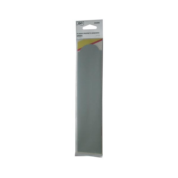 Plaque propret adh sive gris lot de 2 4232203 iso for Plaque de proprete porte