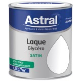 Laque glycéro satin brillante 0.5 L - blanc base white