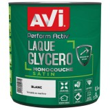 Laque glycéro Perform Activ satin 0.5 L - blanc