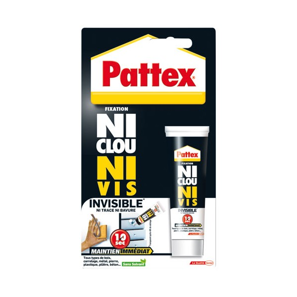 Mastic fixation - Ni Clou Ni Vis - invisible - 40 mL  - 1496130 - PATTEX