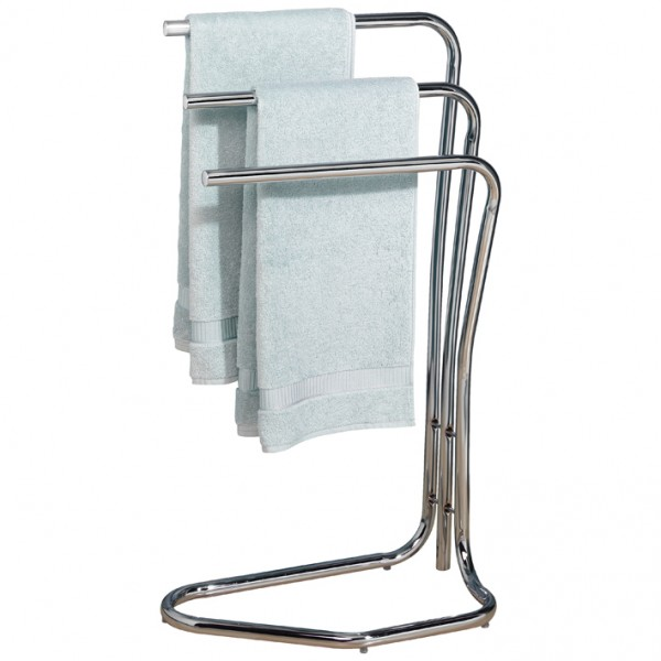 Porte serviettes 3 barres fidji chrom 814206 allibert for Porte serviette salle de bain sur pied