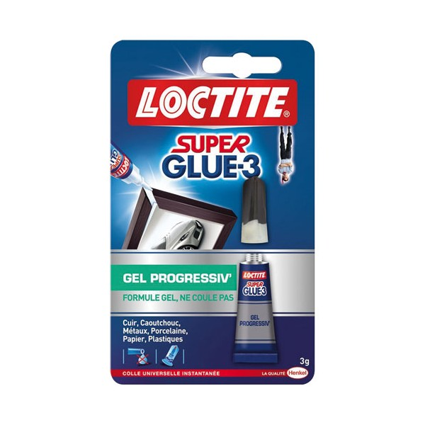 Colle Super glue3 - progressiv' - 3 g  - 1602132 - LOCTITE