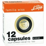 Lot de 12 capsules Familia Wiss pour terrine - D: 110 mm