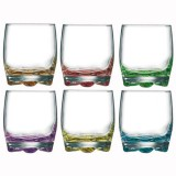 Lot de 6 verres à eau 27.5 cL - assortis