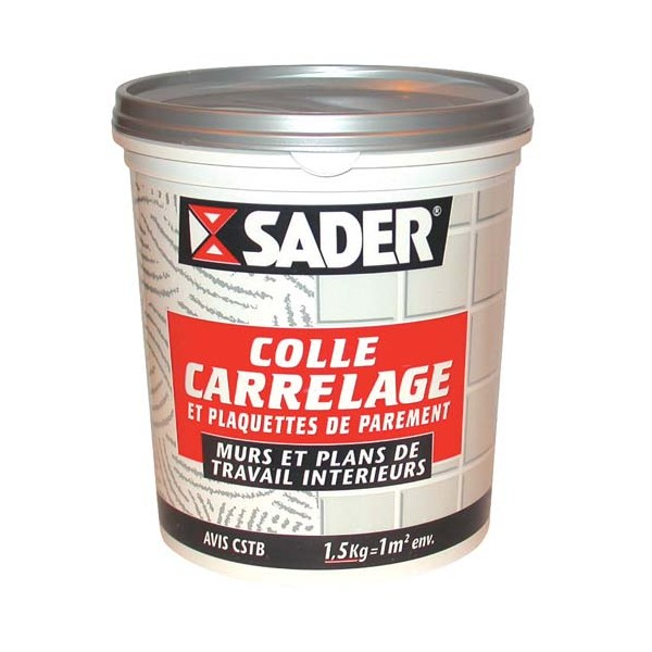 Colle carrelage mural 1 5 kg 30110146 sader home for Prix colle a carrelage