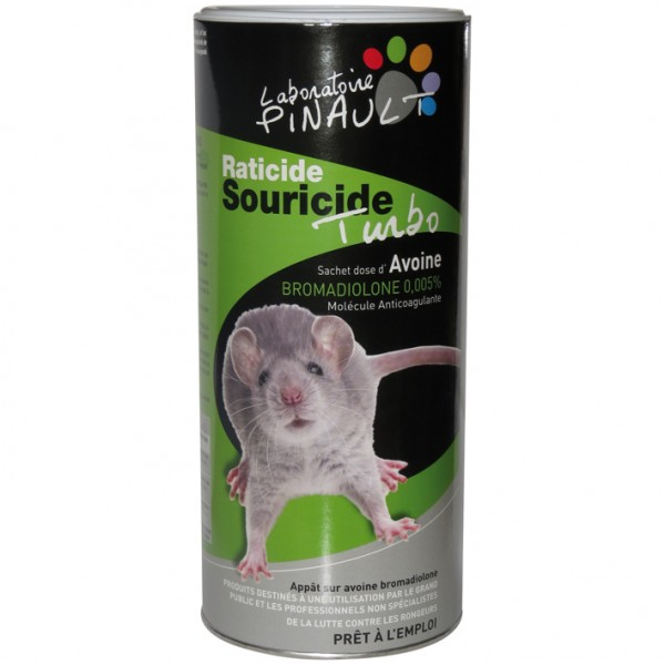 Raticide souricide - turbo - 700 g - LABORATOIRE PINAULT