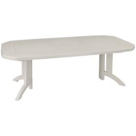 Table Vega 165/220 x 100 cm - blanc