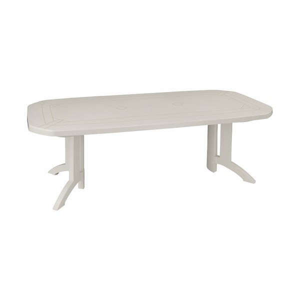 Table Vega 165/220 x 100 cm - blanc - 52056104 - GROSFILLEX