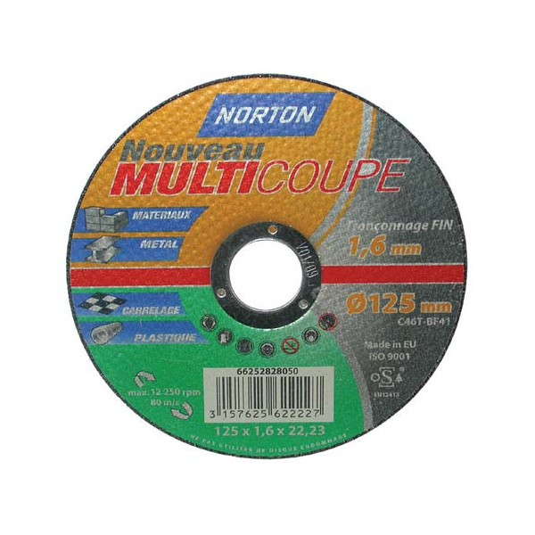 Disque multi-coupe - 125x1.6 mm - 66252828050 - NORTON