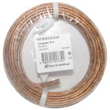 Câble hifi - 2x1.5 mm² - couronne 10 m - transparent