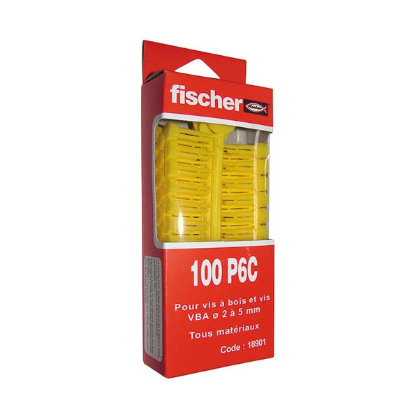 Cheville multi-usages - lot de 100 - PC 6 - 18901 - FISCHER