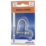 Manille droite - 8 mm