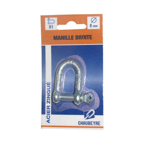 Manille droite - 8 mm - 8361021 - CHAUBEYRE