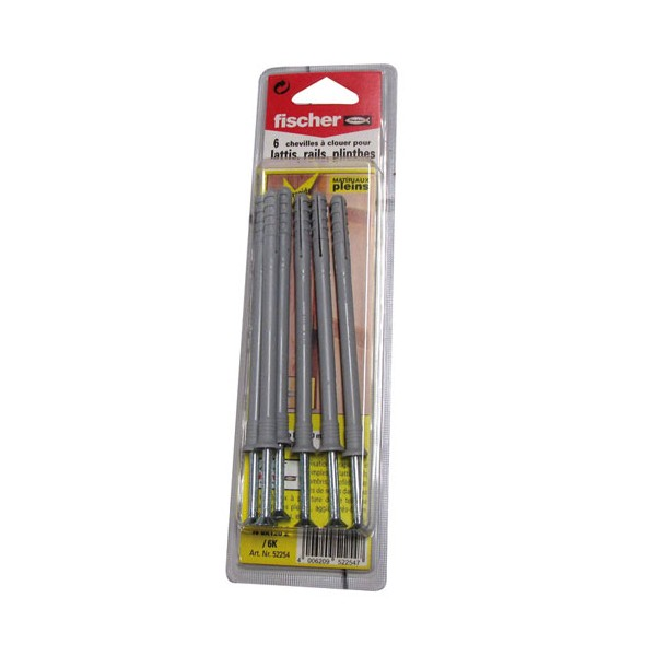 Cheville N 8x120 Z - lot de 6 - 509285 - FISCHER