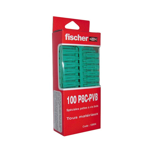 Cheville nylon multi-usages - lot de 100 - PC8 PVB - 18904 - FISCHER