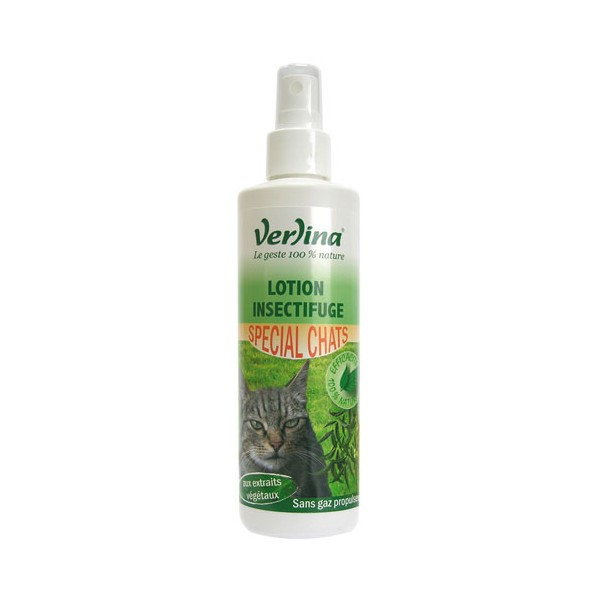 Lotion insectifuge - spécial chats - 250 mL - VZLH1285 - VERLINA