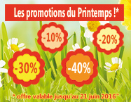 Les promotions du printemps !